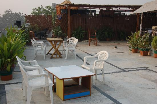 Ajay Guest House: on the rooftop