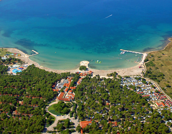 Nin, Kroatië: Zaton Holiday Resort areal view