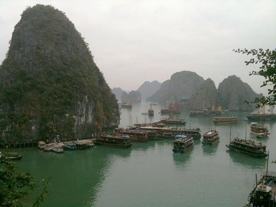 Trails of Mountain Travel : Top View - Beautiful Halong Bay