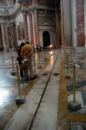 Basilica di Santa Maria degli Angeli e dei Martiri : Bianchini's meridian line