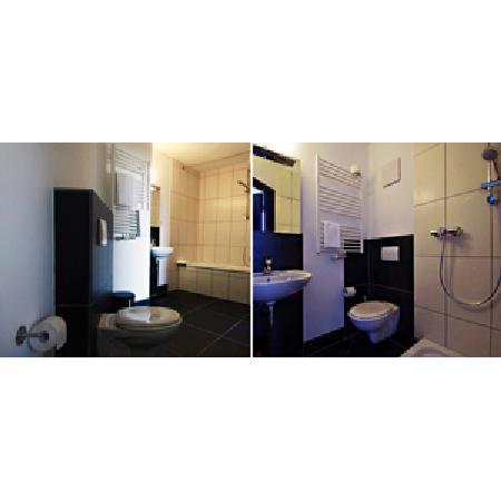 aappartel boardinghouse city center: Badezimmer