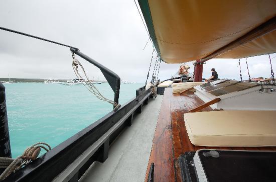 หมู่เกาะกาลาปาโกส, เอกวาดอร์: Deck for hanging out
