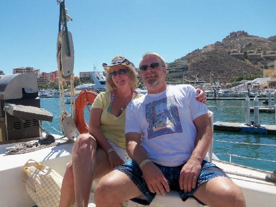 Ecocat Catamaran Tours : Leaving on the Catamaran in Cabo!
