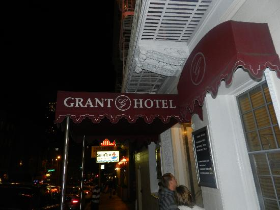 The Grant Hotel: Outside the hotel