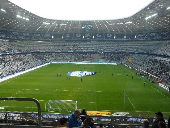 The view from my seat. - Picture of Allianz Arena, Munich ...