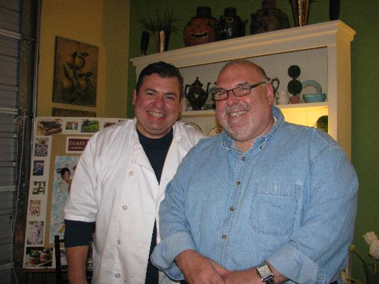 Madeline's Cafe and Bakery: owners Gerard and Hector