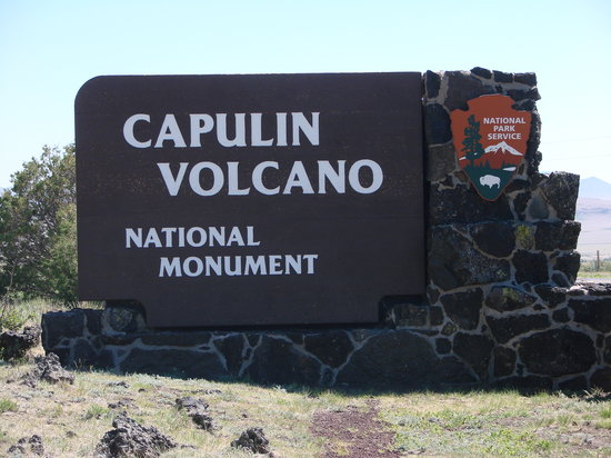 Capulin, NM: Park Sign