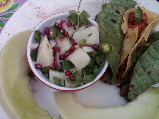 Vintage Sol: Vegan tacos and a jicama salad that was so bueno!