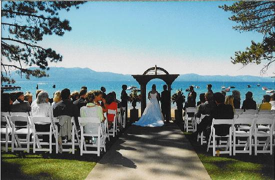 Lake Tahoe (Nevada), NV: Weddings on the Beach at Zephyr Cove Resort