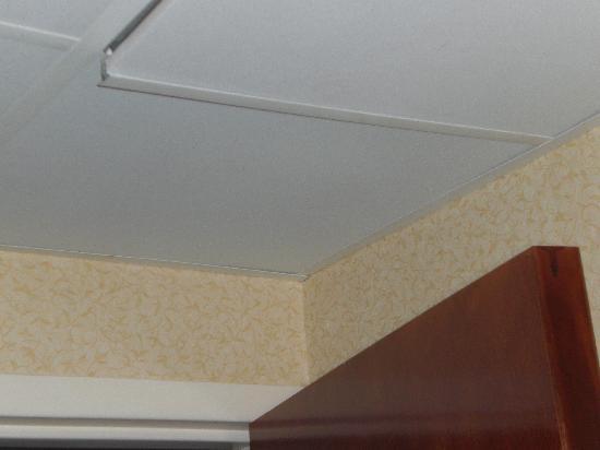 Baymont Inn & Suites West Lebanon : Loose bathroom ceiling tile, room 212