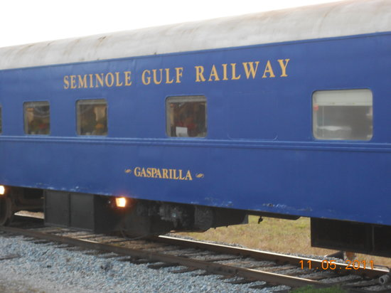 Seminole Gulf Railway Murder Mystery Dinner Train: our car