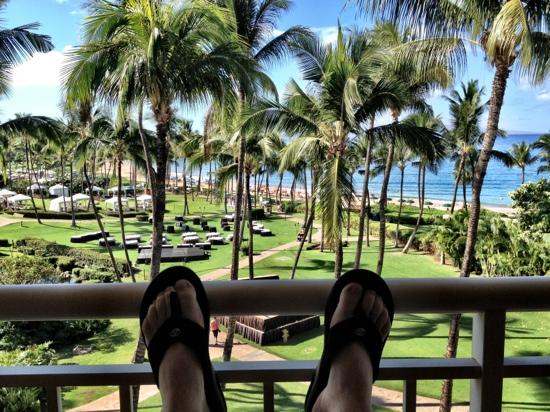 Grand Wailea - A Waldorf Astoria Resort: view from the deck.