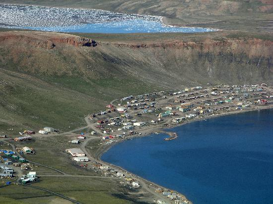 aerial view of Arctic Bay