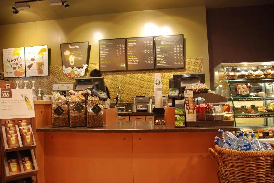 Service Counter at the Victoria Street Starbucks - Picture ...