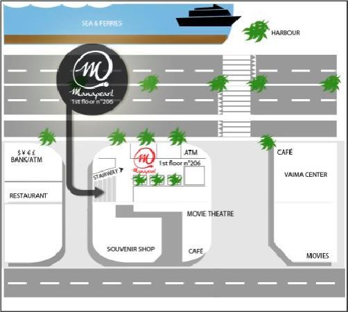 Manapearl Tahiti access map