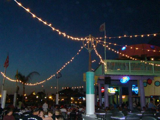 Perfect for night time fun! - Picture of Louie's Backyard ...
