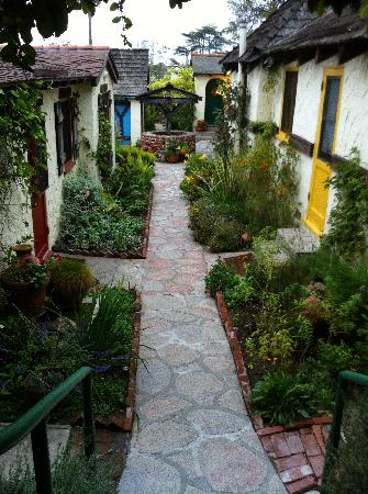 Manzanita Cottages: the walk between the cottages