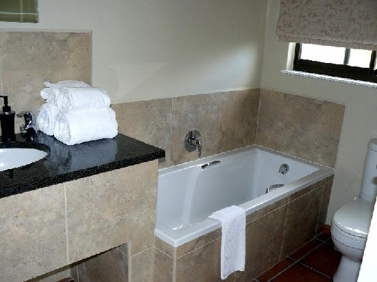 False Bay View: En suite bathroom with large walkin shower and seperate bath