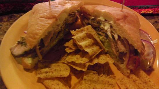 Chuyos Peruvian Fusion Deli : pork sandwich