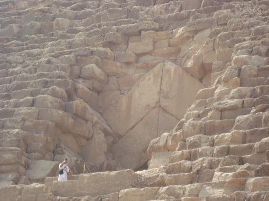 Kheopspyramiden: Entrance to the inside pyramid...