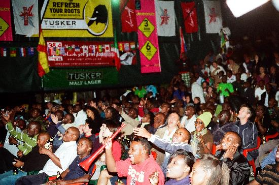 Parklands Shade Hotel: Fans enjoying their favourite sports at soccercity stadium