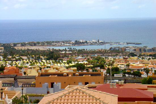 Villas Castillo: view over Caleta de Fuste from terrace