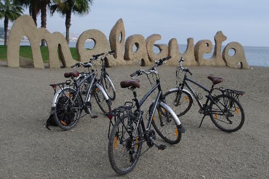 bike2malaga: Bikes with Malaga sign