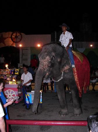 A'Famosa Cowboy Town: The stalls selling ice creams with an elephand overlooking