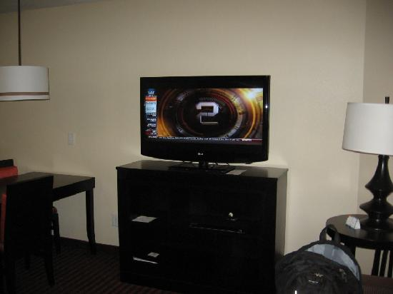 HYATT House Dallas/Las Colinas: Living, hay tv de 40 pulgadas