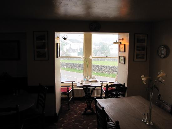 The Tower Bank Arms: Our favorite table to enjoy the full English breakfast each day!