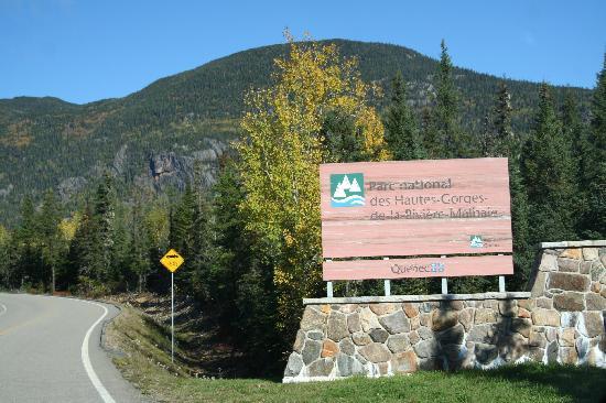 Auberge le Relais des Hautes Gorges: L'entrée du Parc des Hautes Gorges