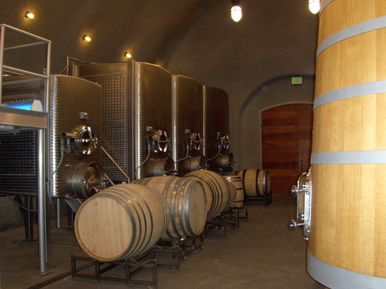 Staglin Family Vineyard : Barrels in Cave