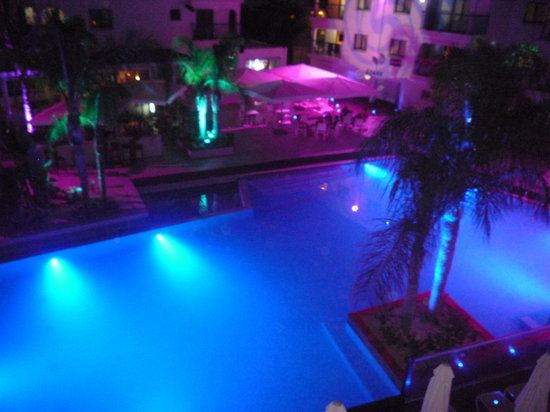 Tsokkos Holiday Apartment : A view of the pool at night from one the the pool side rooms!