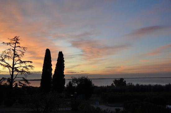 sunrise view from Corte Ferrari
