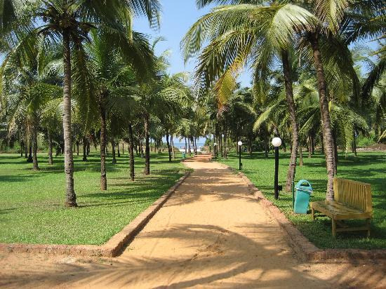 Dona Sylvia Beach Resort: Path to beach