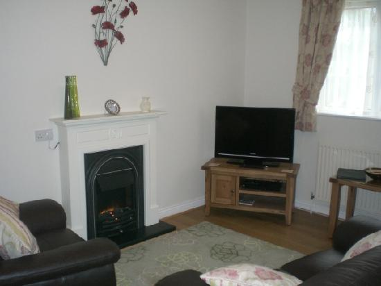 Langhill Holiday Cottages : Lounge in Dutch Blues Cottage