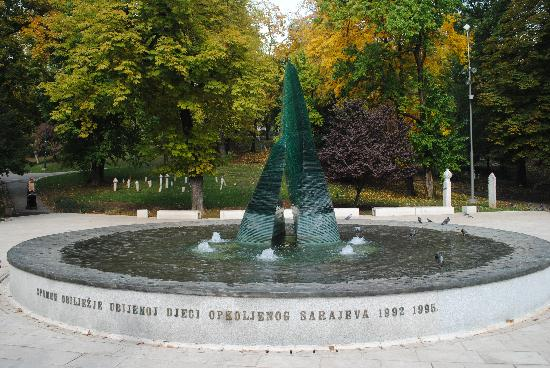 Neno & Friends free Sarajevo walking tours and private guide: Important memorial to the children lost.