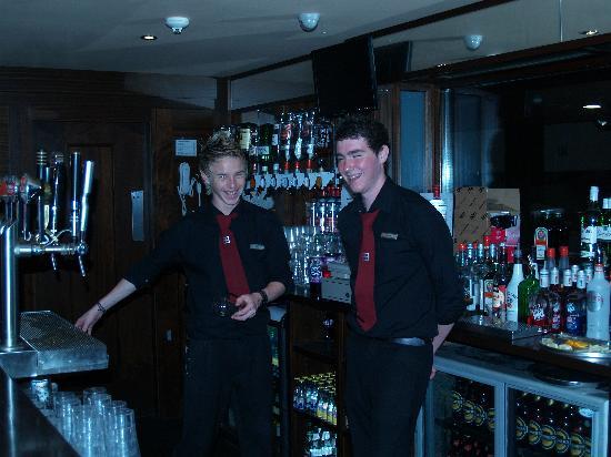The Valley Hotel: Friendly Barmen in Function Room