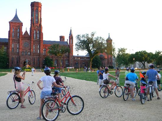 Capital City Bike Tours: A stop at the Smithsonian Castle