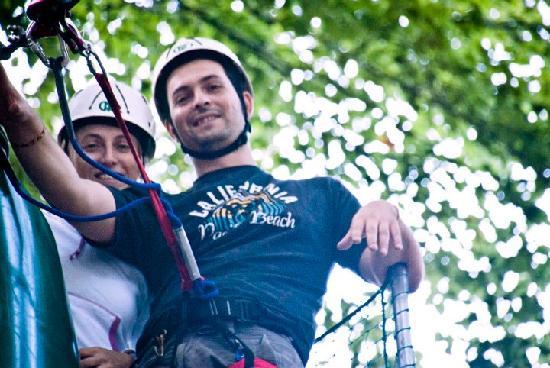 Parco Avventura Bergamo: Sosta sugli alberi...