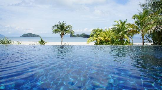 Four Seasons Resort Langkawi, Malaysia: View from the quiet pool