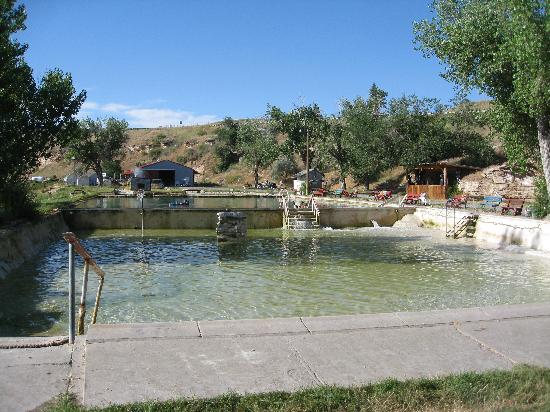 Fountain of Youth RV Park : Pool refilling after cleaning.