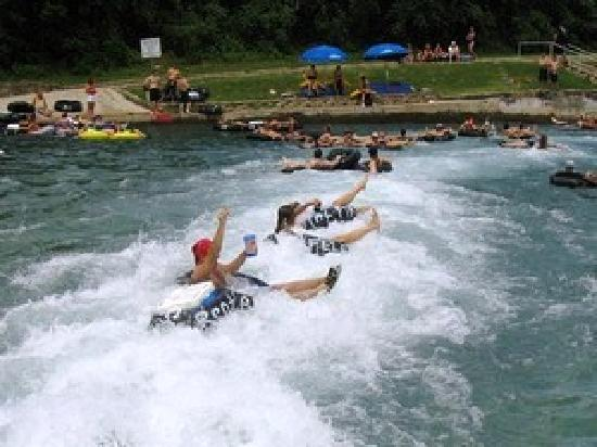 RiverRun Condominiums : Floating on the Comal River!