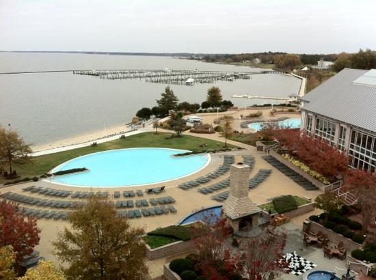 main pool and marina picture of hyatt regency chesapeake. Black Bedroom Furniture Sets. Home Design Ideas
