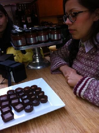 Gourmet Walks - Fun Foodie Tours: learning about chocolate truffles