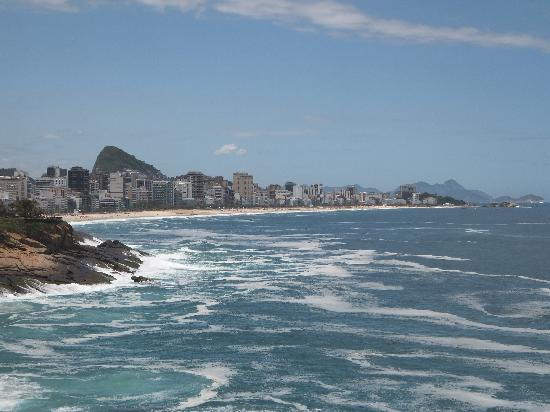 Ipanema Beach: View from our hotel towards Ipanema