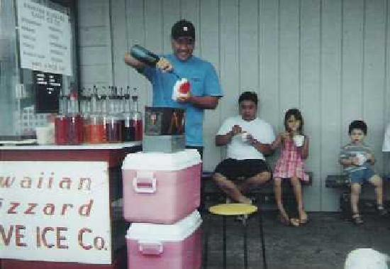 Hawaiian Blizzard: The Shave Ice Man and his cart