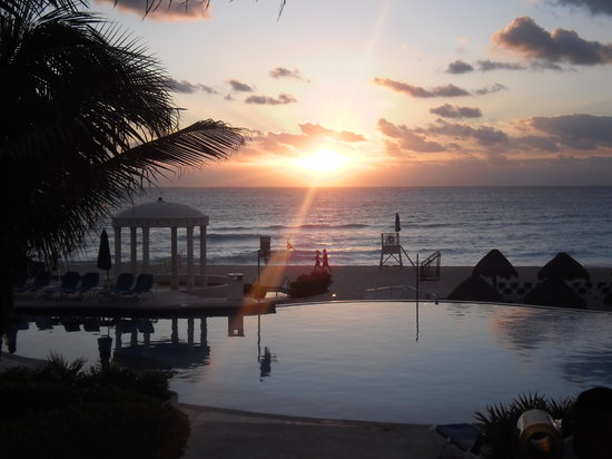 "Golden Parnassus All Inclusive Resort & Spa Cancun: Everybody ""loves"" sunrise photos. Here's one from our visit - at the Golden Parnassus. Lovely!!!"