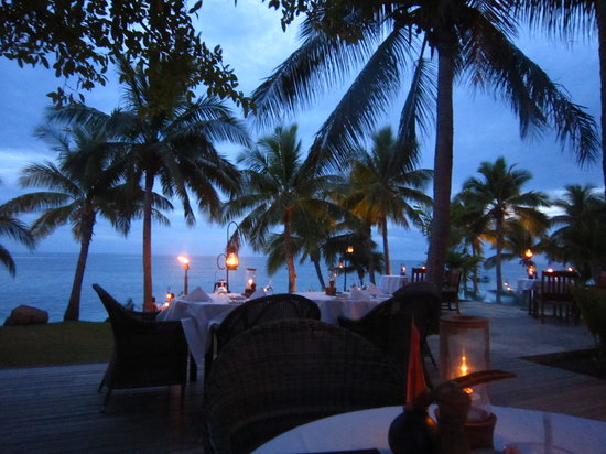 Tokoriki Island Resort: Dinner time