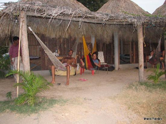 Pepes Cabanas Surf Camp: Me and my wife